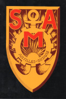 SERVICE MILITAIRE ADAPTE Antilles-Guyane Autocollant Pour Véhicules 17,5cmx27,5cm Ancien Logo 1970 - Militares