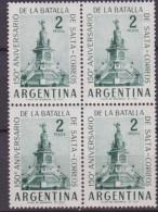 ARGENTINA MONUMENT  BLOCK 4 MNH - Sellos