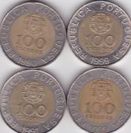 Portugal 4 X 100 Escudos 1989-90-91-99 - Portugal
