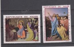 Yvert Poste Aérienne 76 / 77 * Neuf Charnière Tableau Peinture - Niger (1960-...)