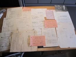 Documents Militaires Divers Années 40 Et 50 Du Soldat MEYER Robert Dm à Liège Rue Publémont  25 - Unclassified