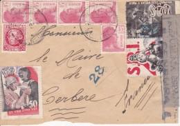 GUERRA CIVIL - DEL FRENTE A FRANCIA - VINHETAS DE LA SIA Y S.R.I. - MUY RARAS EN CARTA - VERDADEIRAMENTE CIRCULADA - 1931-50 Cartas
