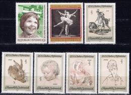 A+ Österreich 1969 Mi 1301 1304 1307-08 1311 1313-14 Mnh Verschiedene Marken - 1945-.... 2. Republik