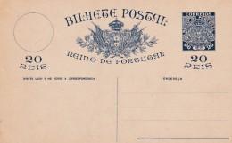 BILHETE POSTAL DO REINO DE PORTUGAL - Cartas