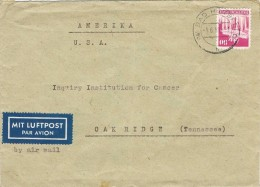 17598. Carta Aerea BAD HERSFELD (ocupation Zona Anglo American Alemania)  1950 To USA - Zona Anglo-Américan