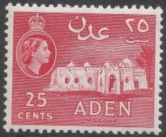 Aden. 1964-65 QEII. 25c MH. Block CA W/M SG80 - Aden (1854-1963)