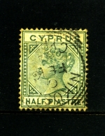 CYPRUS - 1882   ½ PIASTRE  Plate 1  FINE USED - Cipro (...-1960)