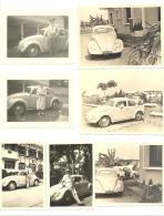 """Lot De 7 Photos (+/- 6x 9 à 8 X 10 Cm)  Voiture VW - Oldtimer, Automobile """"Coccinelle"""" Au Congo Belge (b184) - Personnes Anonymes"""