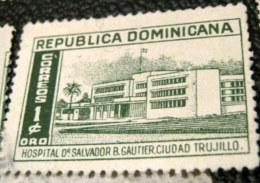 Dominican Republic 1952 Dr Salvador B Gauthier Hospital 1c - Used - Dominican Republic