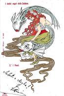 [DC2731] CPA - I DODICI SEGNI DELLO ZODIACO - PESCI - Viaggiata Primi '900 - Old Postcard - Astrology