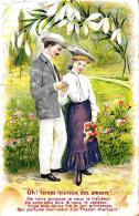 [DC2733] CPA - COPPIA INNAMORATA - Viaggiata - Old Postcard - Coppie