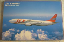 AIRLINES ISSUE / CARTE COMPAGNIE     JAL EXPRESS   B 737 400 - 1946-....: Ere Moderne