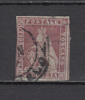 1851 - 1852   Sassone  Nº 4 - Toskana