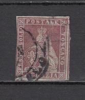 1851 - 1852   Sassone  Nº 4 - Toscane