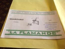 Machine à Laver Essoreuse Centrifuge La Flamande Metz Quarouble Nord Valenciennes - Advertising