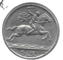 *albania  1 Lek 1930  Km 5  Xf - Albania