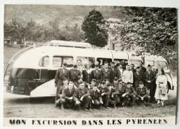 Excursion Dans Les Pyrénées. - Autocar Des Années 50. - Transports