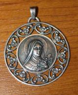 """Magifique Médaillon Médaille Religieuse Argent 925 Médaillon """"Ste Thérèse De L´Enfant Jésus"""" Lisieux - Religious Medal - Religion & Esotérisme"""