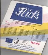 FLICK - FABRICANT DE REVETEMENT DE RAQUETTE (Publicité) - Table Tennis