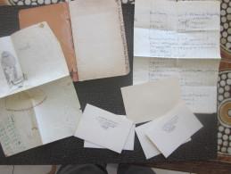 ANCIEN REPERTOIRE PERSONNEL DE POCHE à ORDRE ALPHABETIQUE AVEC DES DOCUMENTS ECRITS CARETES DE VISITE TOULON VOIR SCANNS - Documentos Antiguos