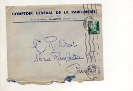 MAROC ENVELOPPE DU 7 JANVIER 1955 DE CASABLANCA POUR PARIS - Marokko (1891-1956)