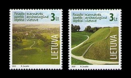 Lithuania 2010 Mih. 1045/46 UNESCO World Heritage. Kernave Archaeological Site MNH ** - Litauen