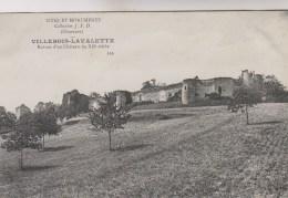 VILLEBOIS LA VALETTE      RUINES D UN CHATEAU - Autres Communes