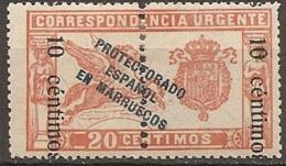 SPANISH MOROCCO 1920 Ed. 66hi Inverted Ovp Cv: 45€ - Spanish Morocco