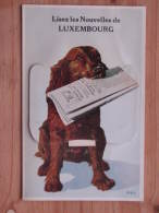 Hund230 : Lisez Les Nouvelles De Luxembourg - Leporello Mit Hund - Zeitung In Der Schnauze - 1984 - Paul Kraus Verlag - Hunde