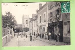 AVON - Grande Rue Avec Superbe Plan Animé - BE - Ed. E.L.D. - 2 Scans - Avon