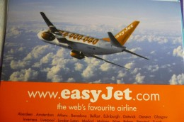 AIRLINES ISSUE / CARTE COMPAGNIE         EASY JET    B 737 - 1946-....: Modern Era