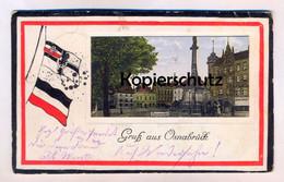 ALTE PASSEPARTOUT POSTKARTE GRUSS AUS OSNABRÜCK NEUMARKT Ansichtskarte AK Cpa Postcard - Osnabrueck
