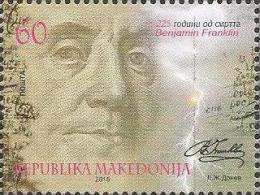 MK 2015-726 BENJAMIN FRANKLIN, MACEDONIA, 1 X 1v, MNH - Macédoine