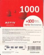 KAZAKHSTAN - Activ Prepaid Card 1000 KZT, Used