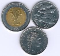 San Marino/Italien Lot Mit 2x 50 Lire + 500 Lire 1975, 1983, 1975 UNC.- - Saint-Marin