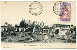 COTE FRANCAISE DES SOMALIS CARTE POSTALE AVEC OBLITERATION DJIBOUTI 8 DEC 1915 COTE FRANCAISE DES SOMALIS - Côte Française Des Somalis (1894-1967)