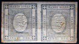SARDAIGNE                  N° 17a X 2   - 2C Avec Chiffre 1-          NEUF SANS GOMME      Cote : 7500 € - Sardaigne