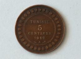 Tunisie 5 Centimes 1917 A 1917A - Tunisie