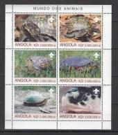 Angola 2000,6V In Block,turtles,schildpadden,schildkröten,tortues,tortugas,tartarughe,MNH/Postfris(L2307) - Schildpadden