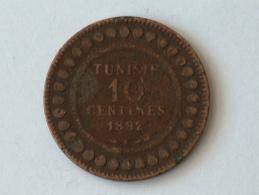 TUNISIE 10 CENTIMES 1892A 1892 A - Tunisie