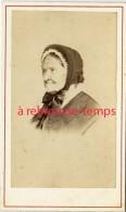 CDV Vers 1880-beau Profil D'une Femme âgée-mode-photo Anonyme - Fotos