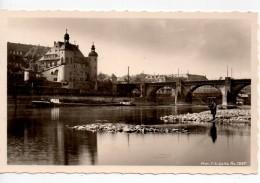 CPA.1952.ALLEMAGNE.Coblence.vieux Chateau Et Pont Sur La Moselle.animée Pêcheur Péniche. - Altri