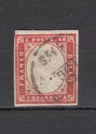 1861 - 1863   Sassone  Nº  16 - Sardaigne