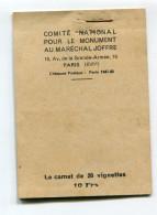 COMPLET Carnet De 20 Timbres De Souscription Nationale Pour Le Monument Au Maréchal Joffre Paris Vainqueur De La MARNE - Vignette Militari