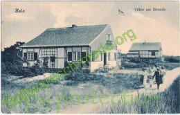 Halbinsel HELA Hel Danziger Bucht Putziger Nehrung Villen Am Strande Belebt 31.7.1912 Gelaufen - Danzig