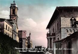 "05226 ""MONSANO (AN) - CHIESA S.S. SACRAMENTO E RICOVERO MANCINI A."" CART. POST. ORIG. NON SPEDITA. - Italia"