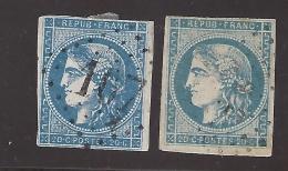 45C 2 NUANCES ( Bleu Et Bleu Acier ? ) B/TB .