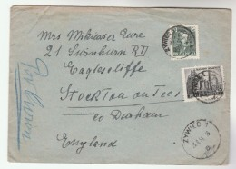 1951 Air Mail Zywiec  POLAND COVER Stamps 45g  SMELTING WORKS 10g  To GB Minerals - Minerals