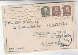 1950 Air Mail Sopot POLAND COVER Stamps To GB - Covers & Documents