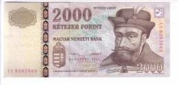 Hungary 2000 Forint (2013) UNC 2 Signatures - Hungary